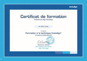 Invisalign-Certificat