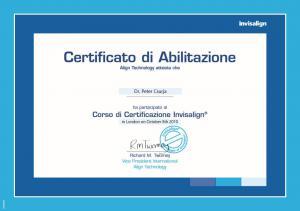 Invisalign-Certificato